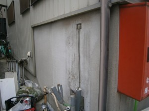 給湯器 交換工事 施工事例 名古屋市南区 撤去後