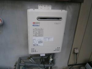 エコジョーズ給湯器 交換工事 施工事例 一宮市 施工中