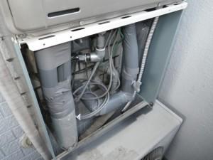 ガス給湯器交換工事 施工事例 瀬戸市 施工中
