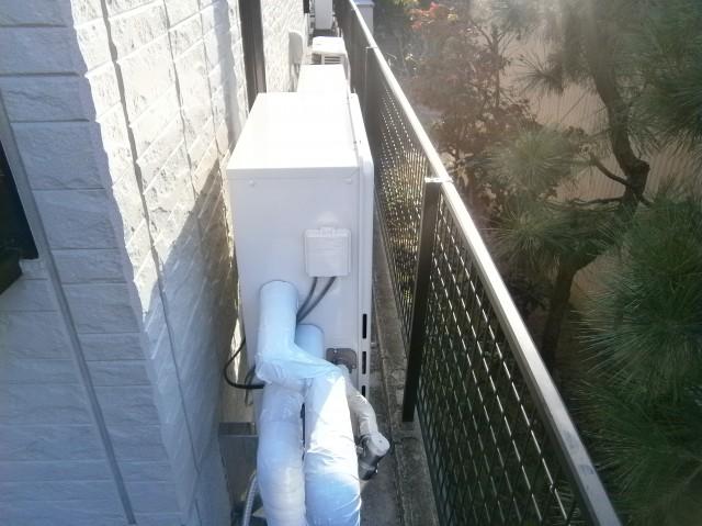 岡崎市 ガス給湯器 交換工事 施工中