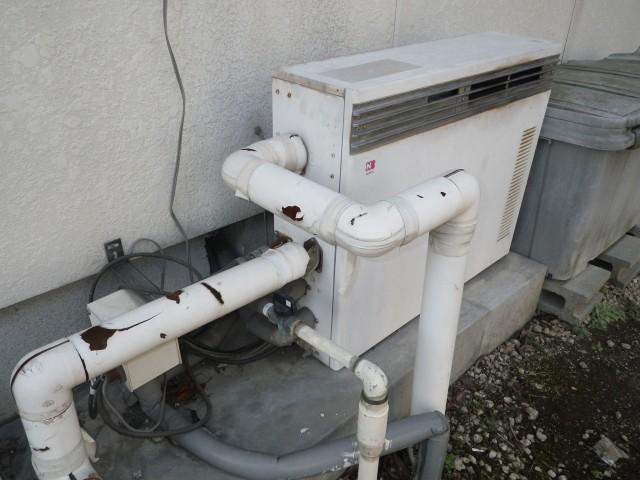 多治見市 ガスふろ給湯器取替工事 施工前