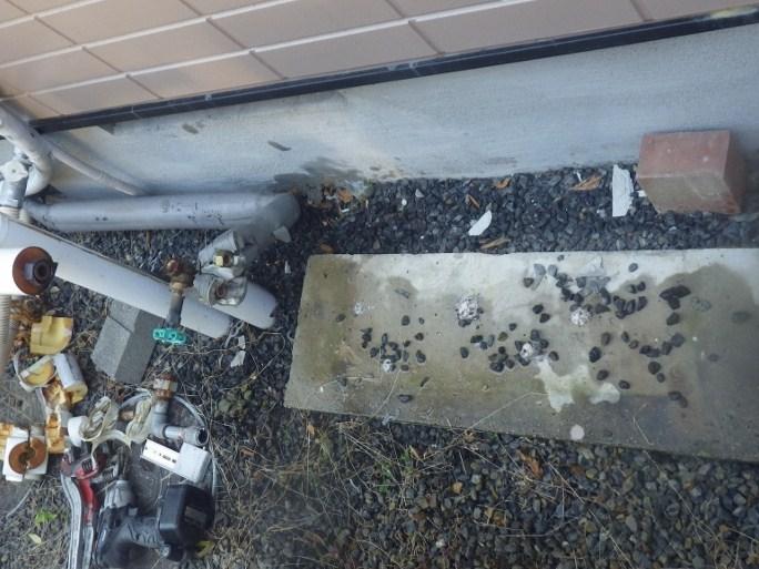 多治見市 ガス給湯器取換工事 撤去後