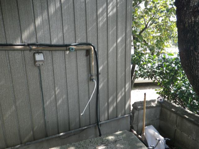 ガスふろ給湯器新設工事 撤去後