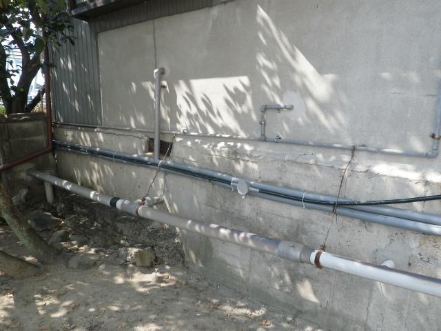ガスふろ給湯器新設工事 巻き直し後