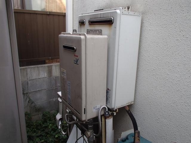 エコジョーズ ガスふろ給湯器取替工事(名古屋市中川区)施工前